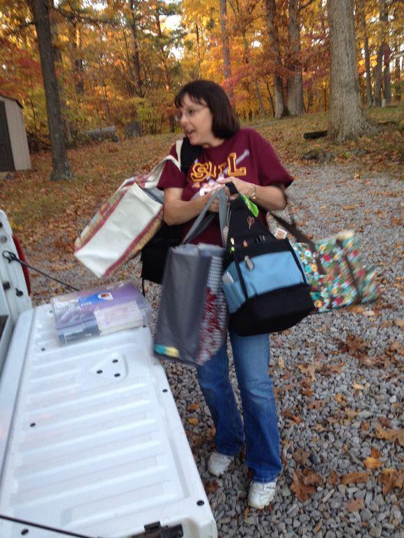 Cabin Scrapbook Weekend!  Fall 2013